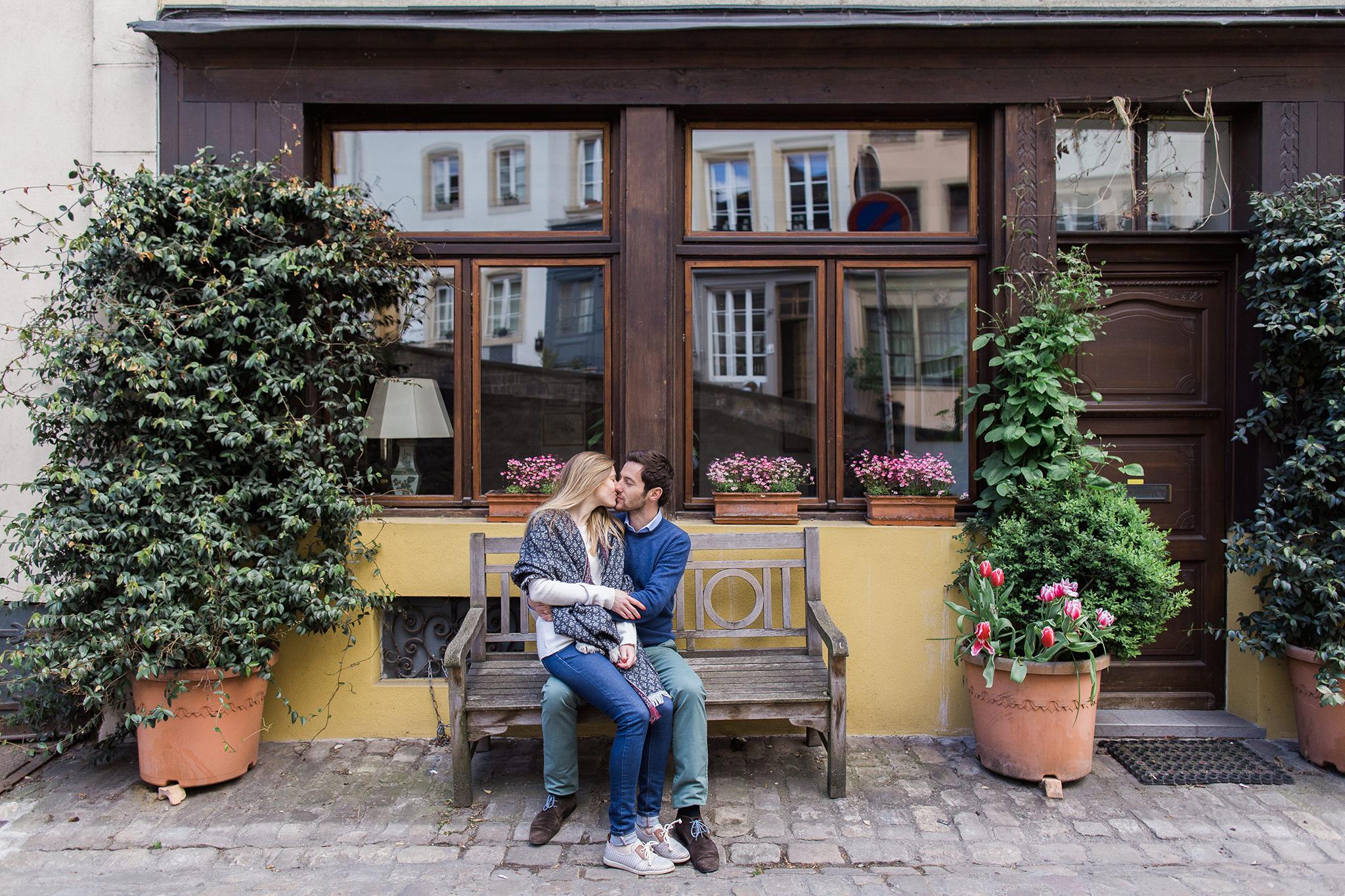 Séance engagement au Luxembourg – Camille et Maxime